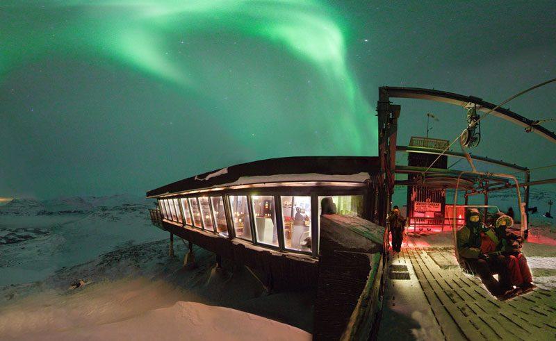 sweden abisko aurora sky station chair lift pr