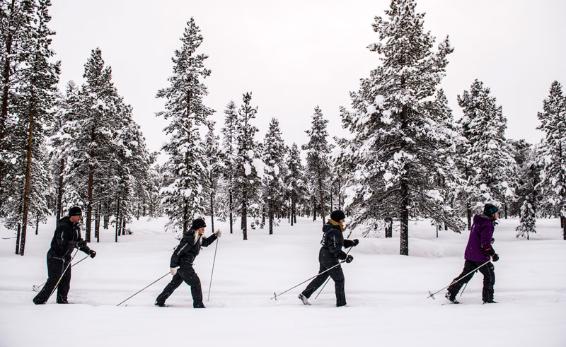 sweden icehotel cross country skiing