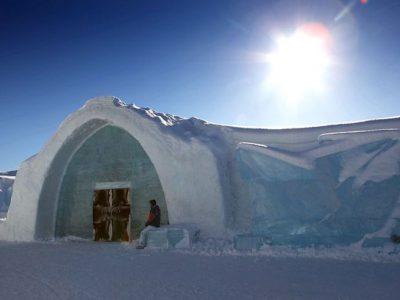 sweden icehotel entrance sunlight rth