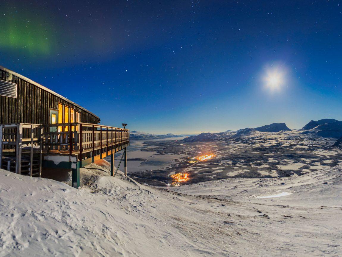 sweden lapland abisko aurora sky station evening view rth