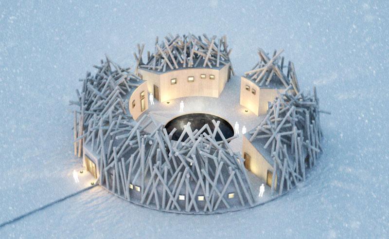 sweden lapland arctic bath winter top