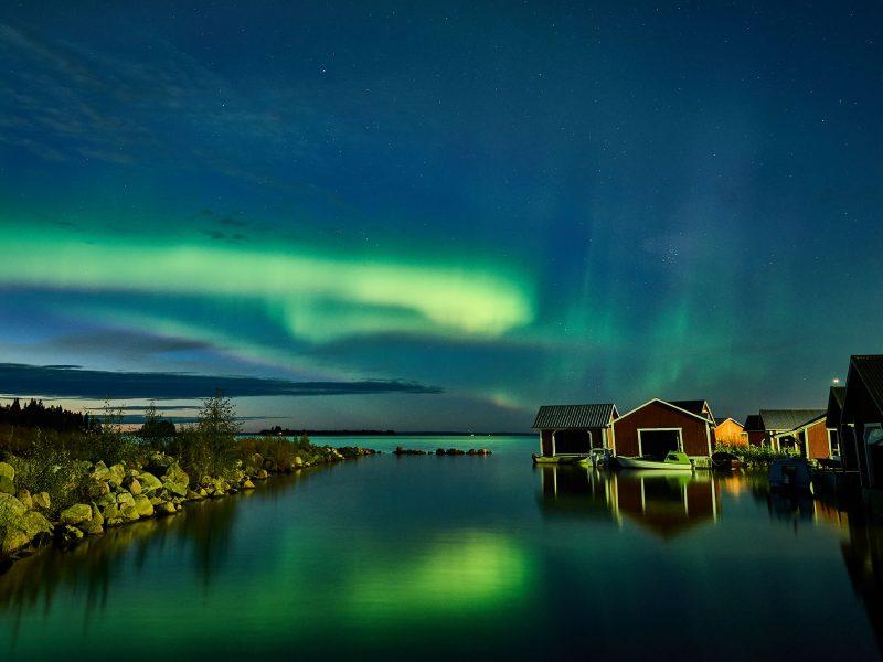 sweden lapland aurora coast brandon lodge gr
