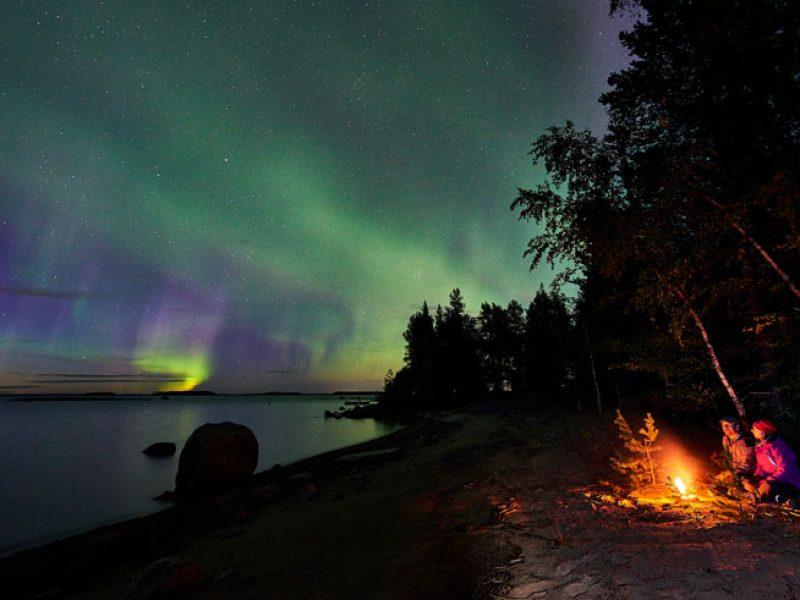 sweden lapland autumn campfire brandon lodge