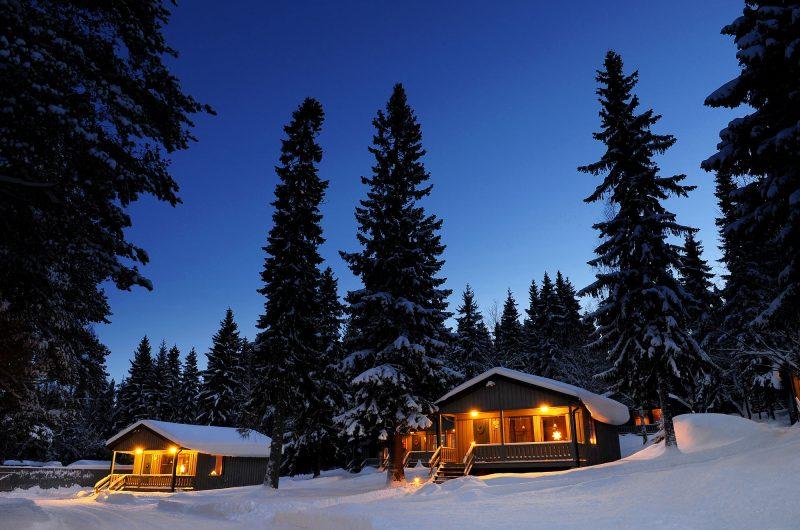 sweden lapland cabin exteriors brandon lodge