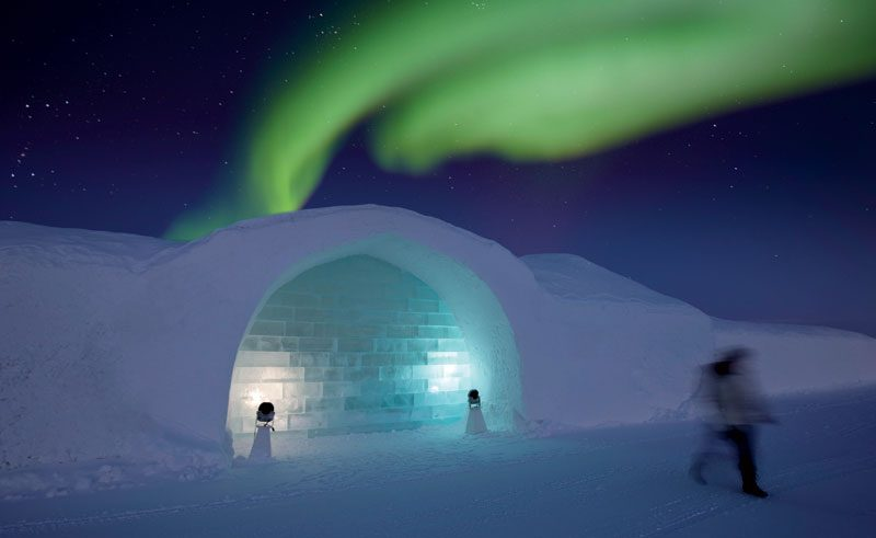 sweden lapland icehotel northern lights rth