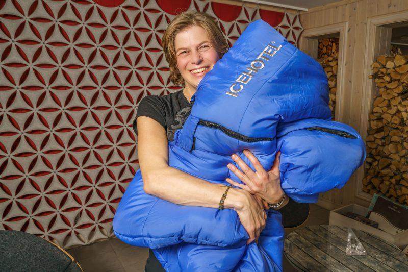 sweden lapland icehotel sleeping bag rth