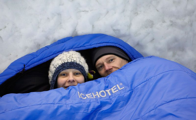 sweden lapland icehotel sleeping bags db
