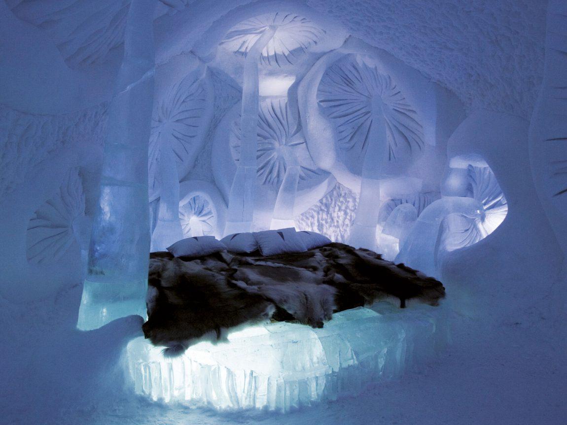 sweden lapland icehotel19 art suite mushroom