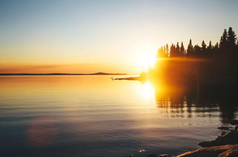 sweden lapland lulea sunset istk m