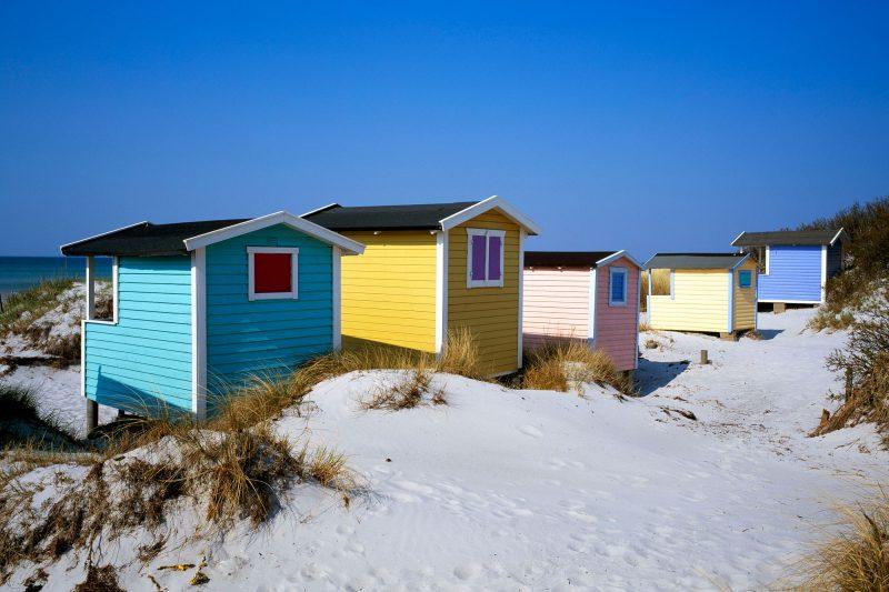sweden skane beach huts vskne