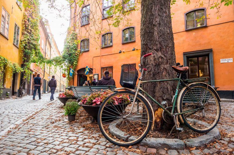 sweden stockholm gamla stan bicycle adstk