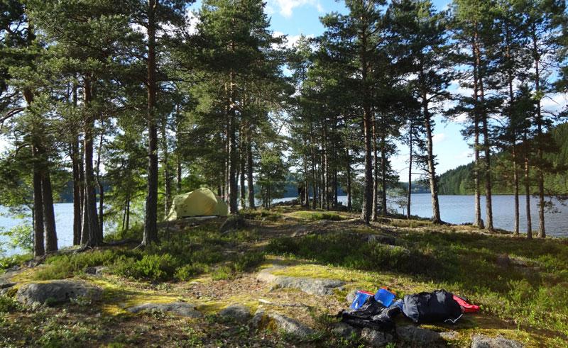 sweden varmland lakeside camp summer ww