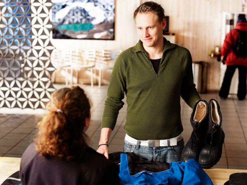 swedish lapland icehotel heated dressing room
