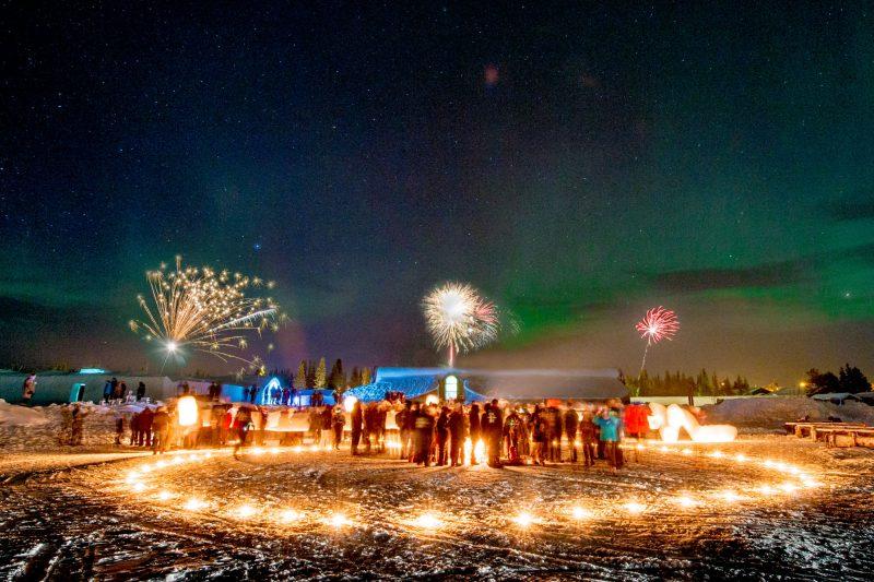 swedish lapland icehotel27 new year fireworks