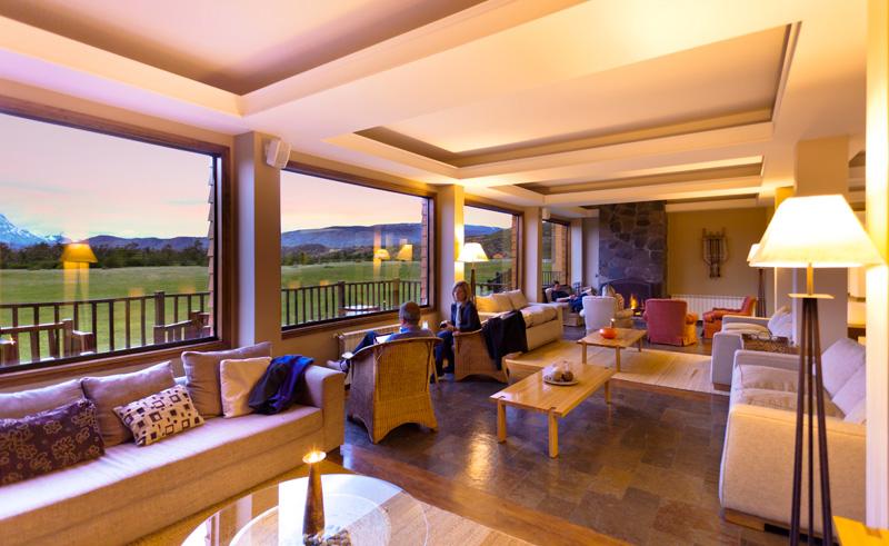 torres del paine rio serrano lounge evening