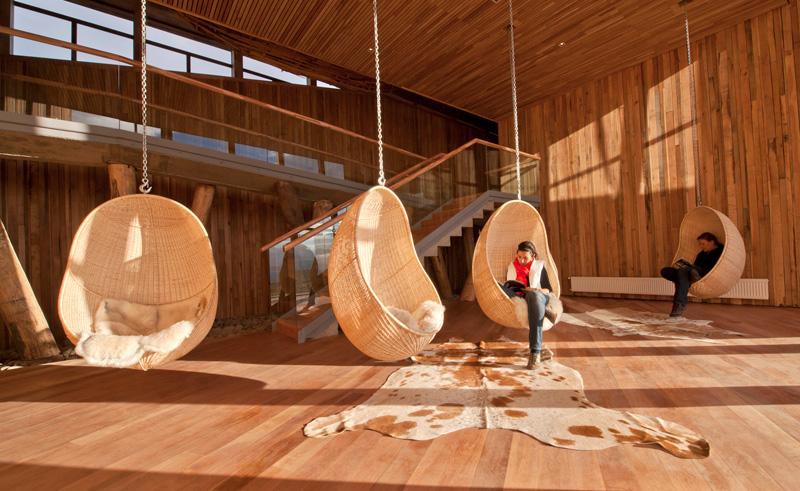 torres del paine tierra patagonia interior chairs