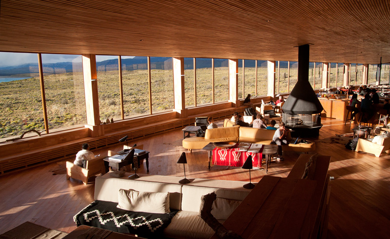 torres del paine tierra patagonia lounge with view