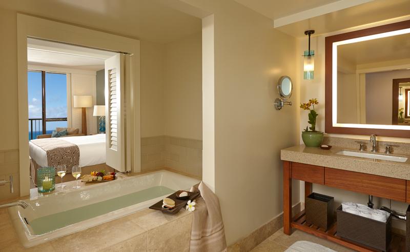 turtle bay resort ocean king bathroom
