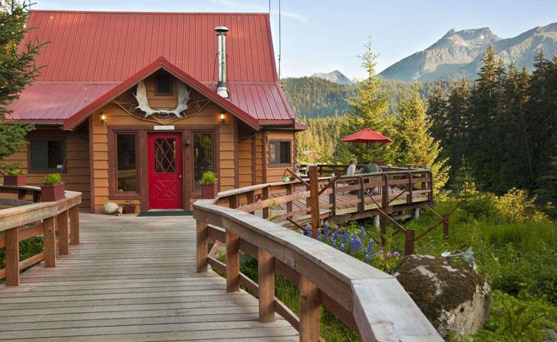 tutka bay wilderness lodge exterior2 wooden walkway