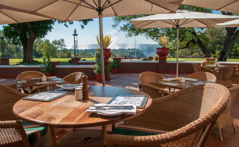 victoria falls hotel terrace view