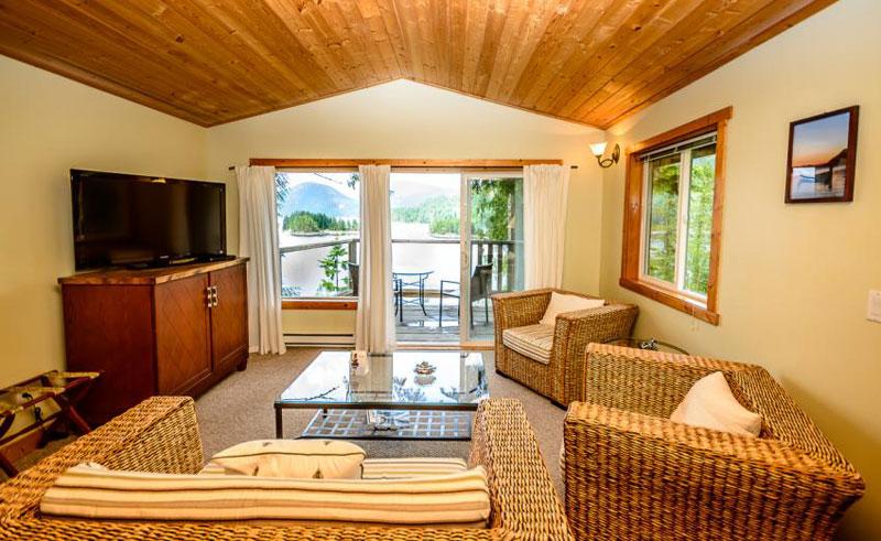 west coast wilderness lodge ocean view suite interior