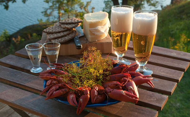west sweden crayfish and beer istock