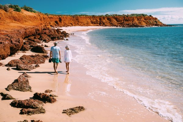 western australia shark bay couple twa