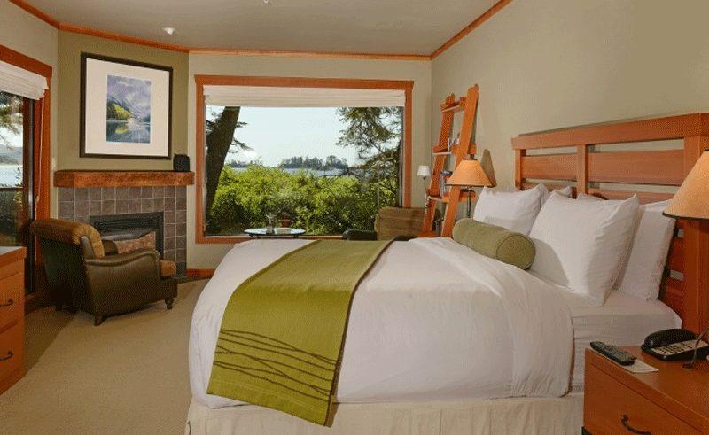 wickaninnish inn room bed view