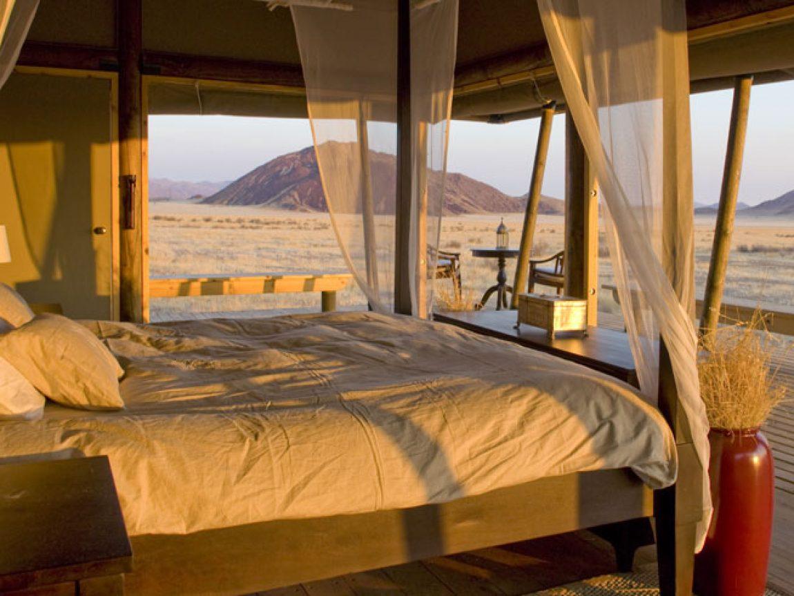 wolwedans boulders safari camp bedroom view