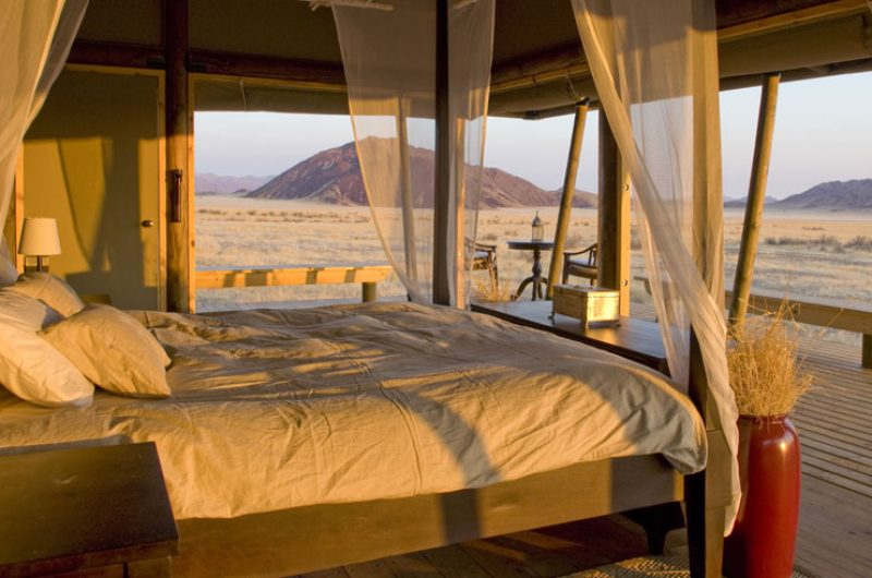 wolwedans boulders safari camp bedroom view
