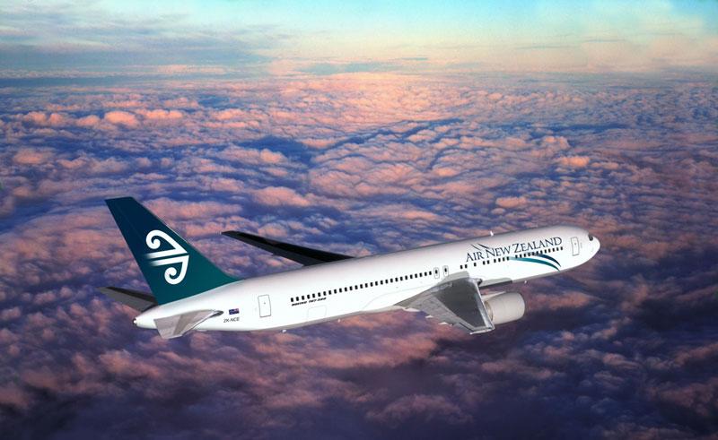 air new zealand in flight
