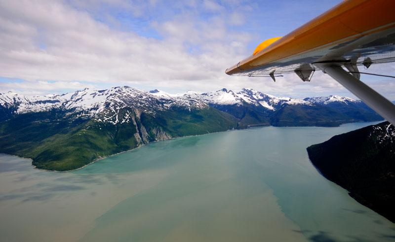 alaska seaplane flying over juneau istock