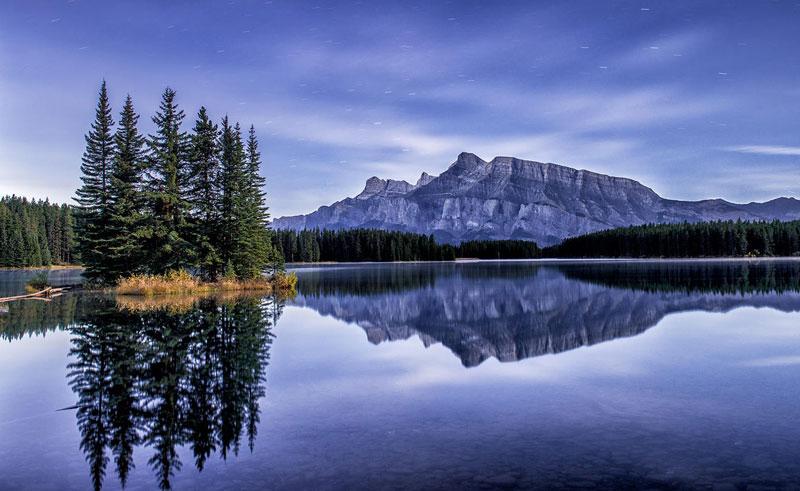 alberta banff lake reflection