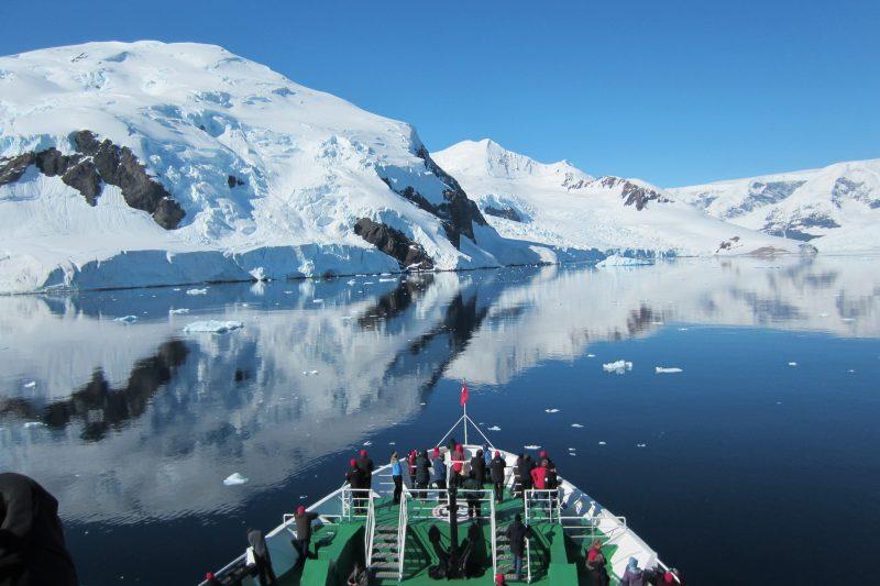 antarctica peninsula ships bow jc