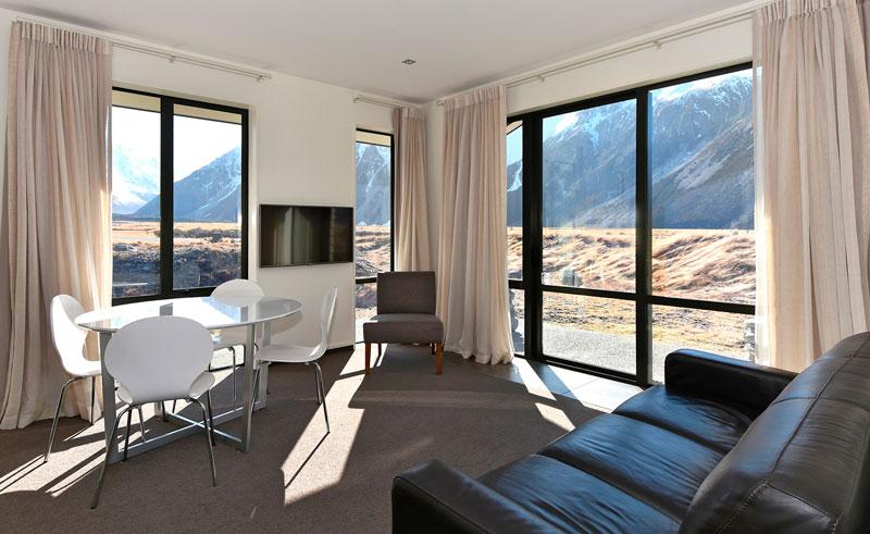 aoraki court motel view from room