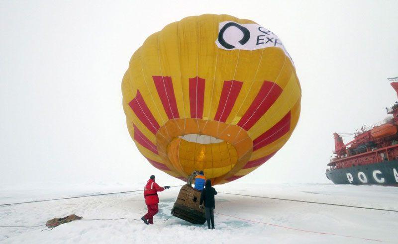 arctic north pole hot air ballooning qe