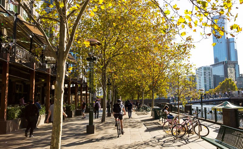 australia melbourne by bike south bank