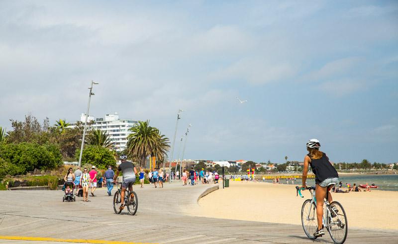 australia melbourne by bike st kilda
