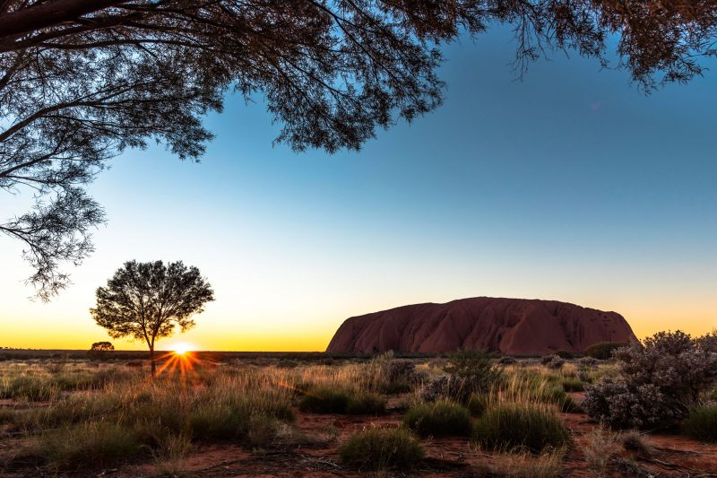 australia northern territory uluru sunrise adstk