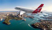 australia qantas aircraft over sydney