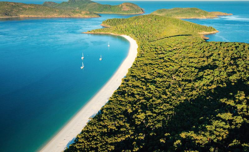 australia queensland whitehaven beach aerial view