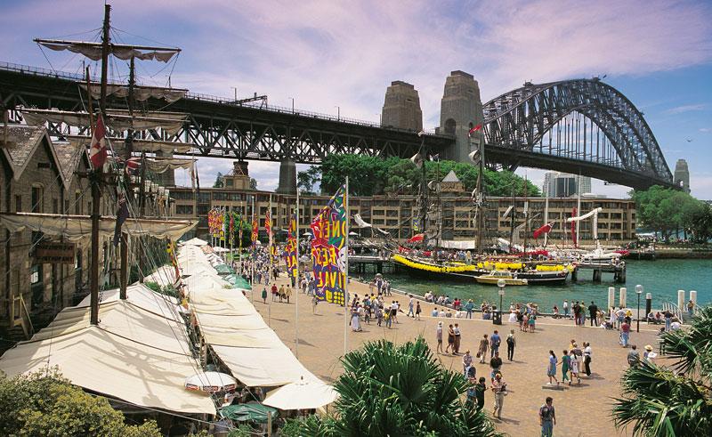 australia sydney the rocks and harbour bridge dnsw