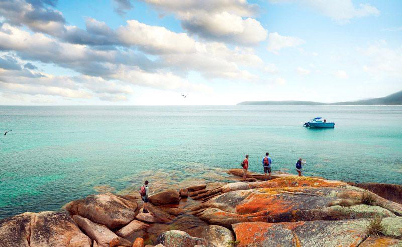 australia tasmania freycinet coastline tt