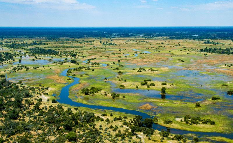 botswana okavango delta aerial istk