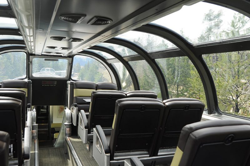 canada via rail the canadian route dome viewing carriage