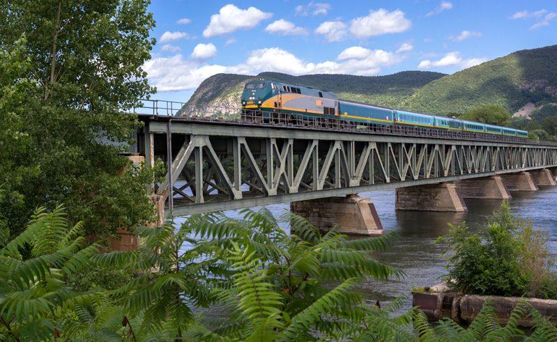 canada via rail the corridor route