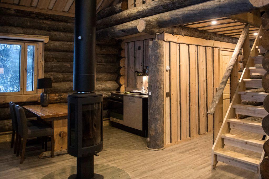 finland lapland inari wilderness cabin interior