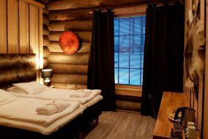finland lapland nangu cabin interior twin