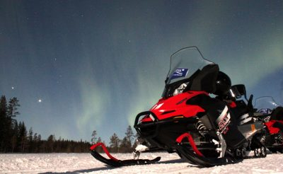 finnish lapland northern lights by snowmobile iso syote