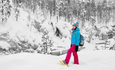finnish lapland ruka snowshoe walk